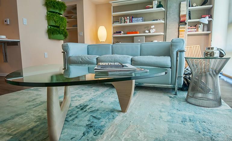 Dwell Labs Living Room With Bag